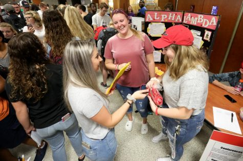 A file photo from the Cal U Club and Organization Fair, Convocation Center, California University of Pennsylvania,  Thursday, Sept. 13, 2018.  This year