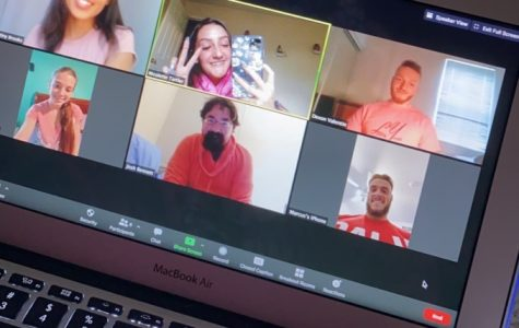 Nicolette Tartler (middle), Member of SAB, hosting a Zoom meeting with other fellow SAB members