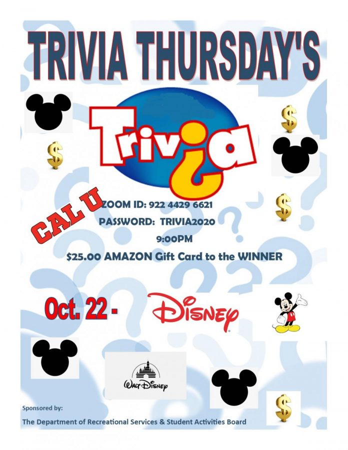 Poster+advertising+Disney+themed+trivia+for+the+most+recent+trivia+Thursday.