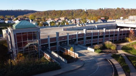 Aerial view of the unused Vulcan Parking Garage on Cal U