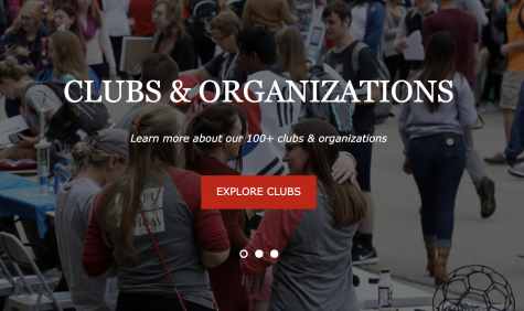 An image from the home page of the new Cal U Clubs and Organizations website