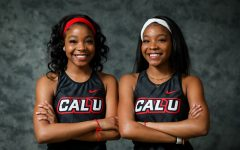 Cal U's Makaila and Macayle Wade, twin sisters from Clairton, Pa., are freshmen members of the women's cross country/track & field teams on the 2020 roster.