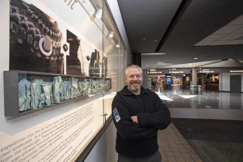"""Cal U Professor Jim Bové's sabbatical project, """"Shadows of the Midnight Sun: Traveling to the Arctic Circle in Search of Inspiration,"""" also inspired a contemporary art installation on display through June 2021 at Pittsburgh International Airport."""