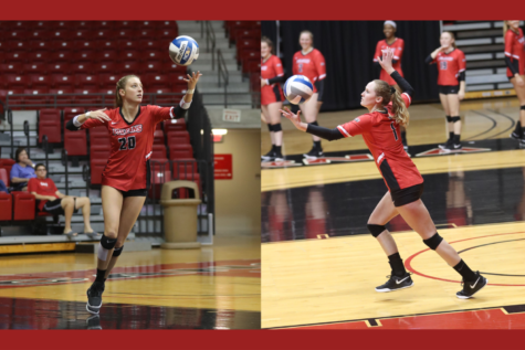 Cal U graduates and volleyball players Jensen Silbaugh (on left) and Shelby Alloway were voted to the College Sports Information Directors of America (CoSIDA) Academic All-District Team on June 10, 2021.