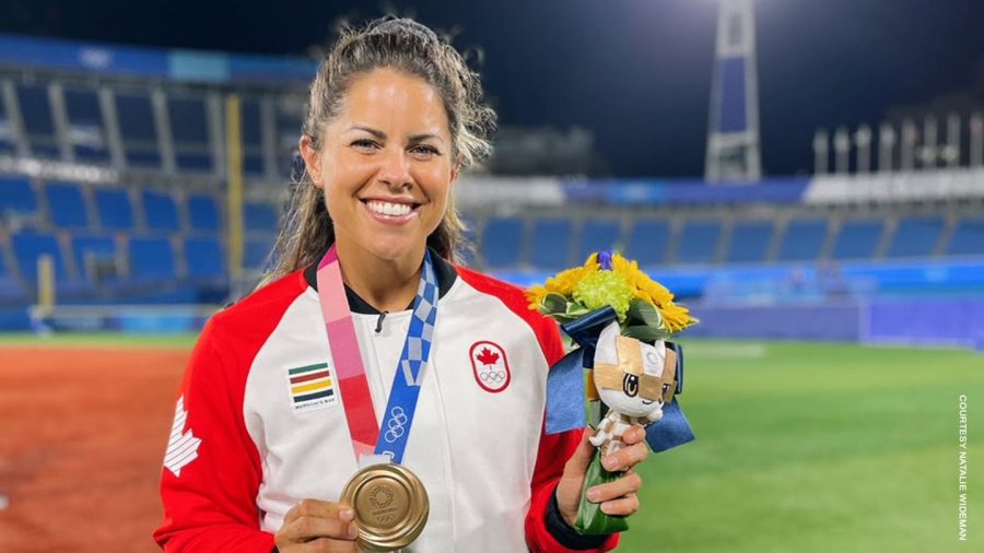 Former Vulcan softball standout Natalie Wideman '14 helped Canada claim bronze medal at the 2020 Tokyo Olympics