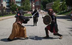 Members of the Cal U Medieval and fencing club participated in the Club and Org Fair, August 2021.
