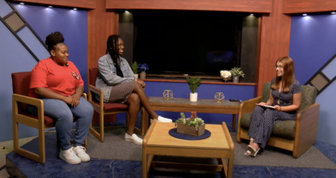 Veonna King and  Tania Blanc of Cal Us Women United on the set of In the Club talk show, hosted by Kaitlyn Collins, Sept. 20, 2021