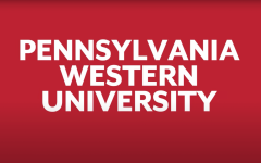 A screenshot from a video on Cal Us YouTube channel revealing the new name of the western integrated university, to be officially launched in July 2022, combining California, Clarion and Edinboro.  The campus location will be added to the name, for example, Pennsylvania Western University California.