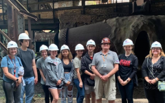 Cal U Honors Composition Class visited the Carrie Blast Furnace as part of a research project in the fall 2021 semester.