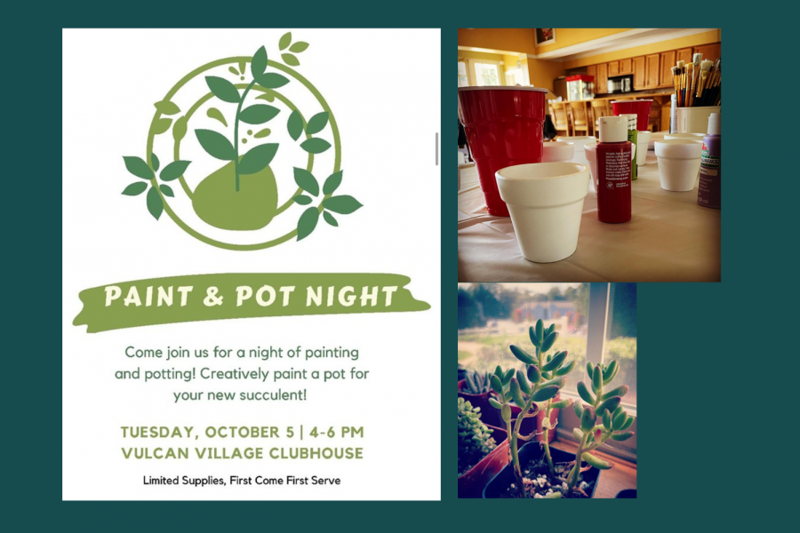 A night of painting and potting at the Vulcan Village clubhouse